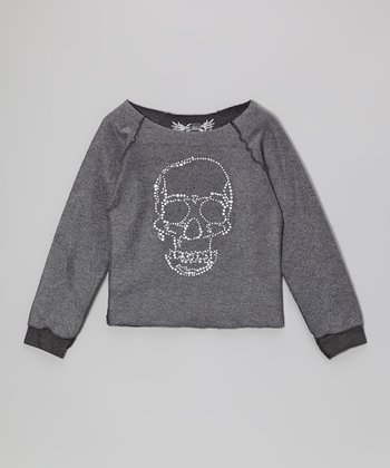 Charcoal Skull Inside-Out Long-Sleeve Tee