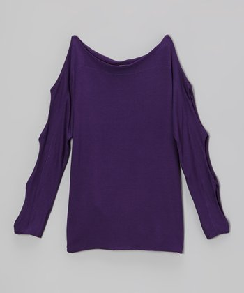 Purple Cutout Top