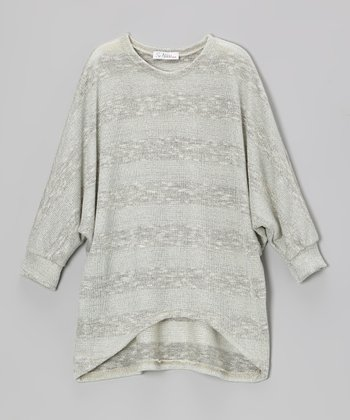 Silver Stripe Knit Sweater