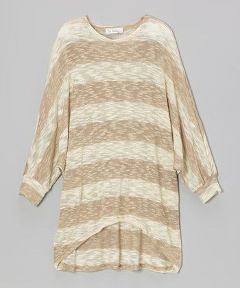 Nude Stripe Knit Sweater