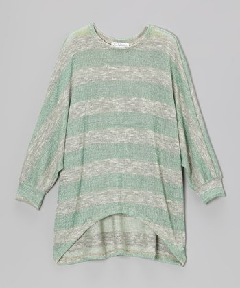 Green Stripe Knit Sweater