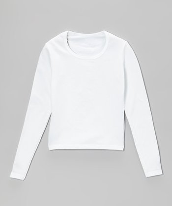 White Long-Sleeve Top