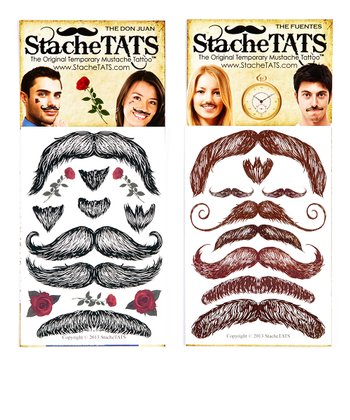 Premium Mustache Tattoo Set