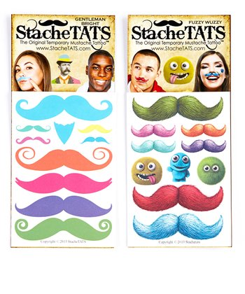 Jazzy Lip Sweater Mustache Tattoo Set