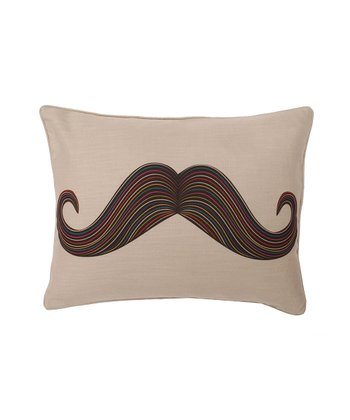 Double-Sided Mustache Throw Pillow