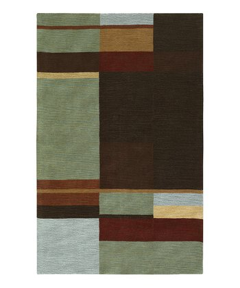 Light Blue Loft Wool Rug