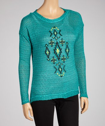 Aquarius Textured Shirttail Top