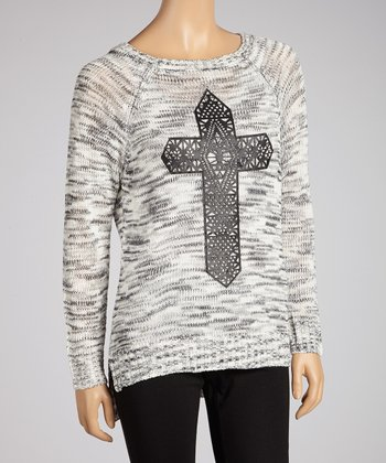 Charcoal Cross Sweater