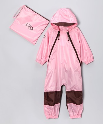 Pink Muddy Buddy Waterproof Coverall - Infant, Toddler & Kids