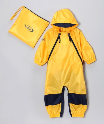 Yellow Muddy Buddy Waterproof Coverall - Infant, Toddler & Kids