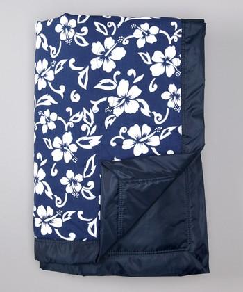 Tuffo Navy Hawaiian Outdoor Blanket