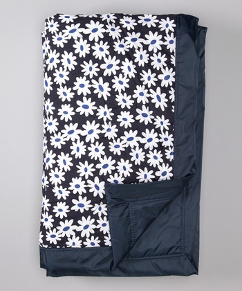 Purple Daisy Outdoor Blanket