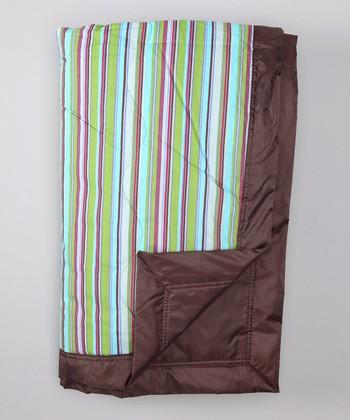 Tuffo Brown Earth Stripe Outdoor Blanket