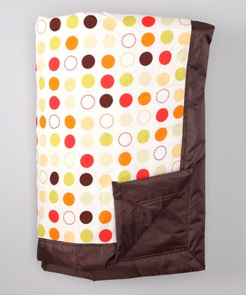 Brown Polka Dot Outdoor Blanket