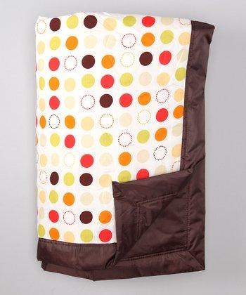 Tuffo Brown Polka Dot Outdoor Blanket