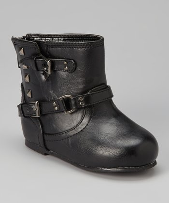 Black Pyramid Stud Boot