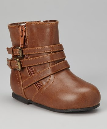 Brown Double-Buckle Boot