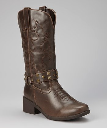 Brown Tall Cowboy Boot
