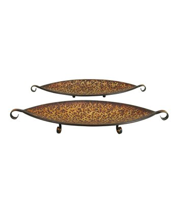 Rustic Metal Tray Set