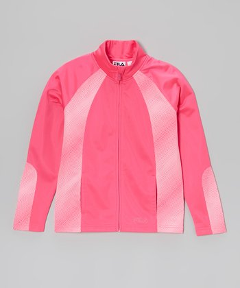 Pink Glo Track Jacket - Girls