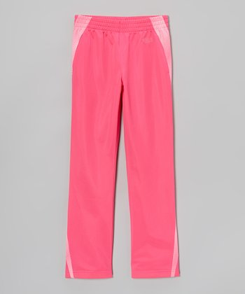 Pink Glo Track Pants - Girls