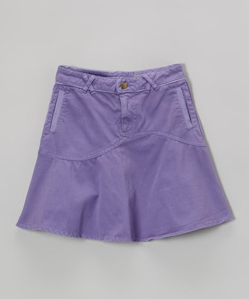 Violet Crisscross Skirt - Girls