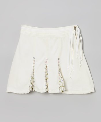 Birch Pleated Silk Skirt - Girls
