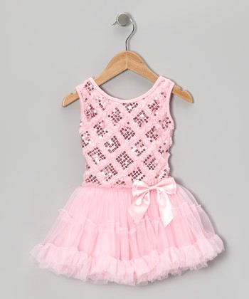Pink Sequin Lattice Pettiskirt Dress - Infant, Toddler & Girls