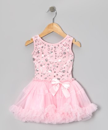 Pink Sequin Polka Dot Pettiskirt Dress - Infant, Toddler & Girls