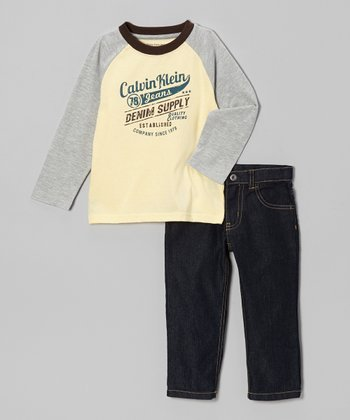 Yellow 'Denim Supply' Raglan Tee & Jeans - Toddler & Boys