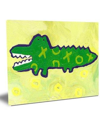 X & O Crocodile Wall Art