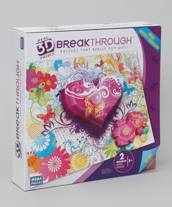 Flowers & Butterfly 3-D Breakthrough Puzzle Set