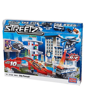 Streetz City Pursuit Mega Blok Set