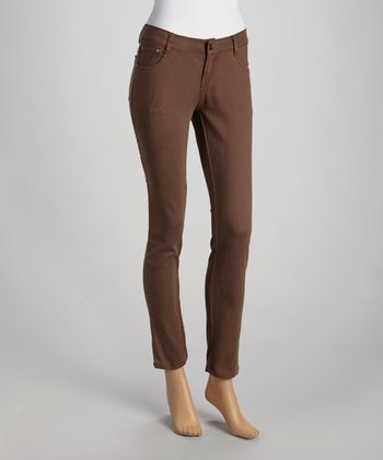 Brown Slim Fit Jeans
