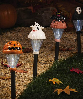 Haunts of Halloween Solar Garden Light Set