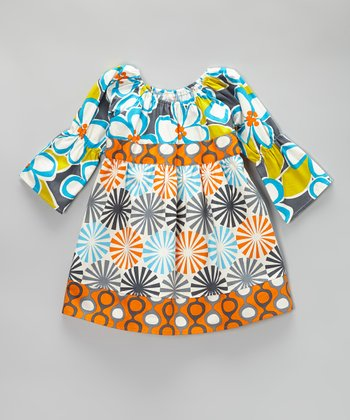 Orange Groovy Dots Dress - Toddler & Girls