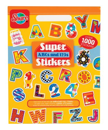 ABC & 123 Sticker Book