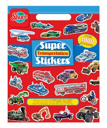 Transportation Sticker Book