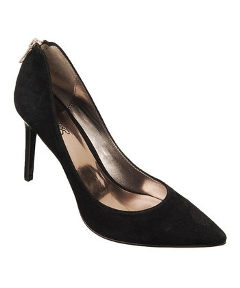 Black Suede Daring Pump