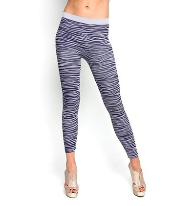Purple & White Zebra Leggings