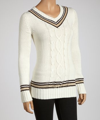 Eggnog V-Neck Sweater