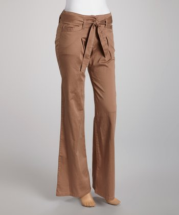 Khaki Trouser Pants - Women