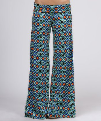 Blue Diamond Flare Pants