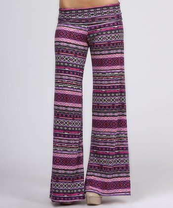 Purple Tribal Flare Pants