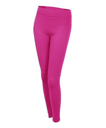 Hot Pink Fleece-Lined Leggings