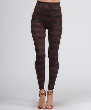 Maroon Safari Leggings