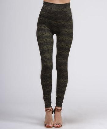 Green Safari Leggings