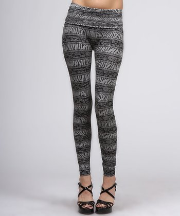 Gray Safari Leggings