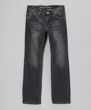 Dark Wash Brave Straight-Leg Jeans - Boys