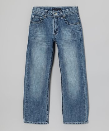 Light Wash Trimble Straight-Leg Jeans - Boys